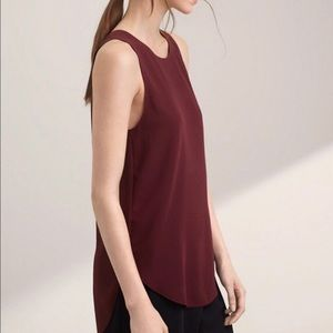 WILFRED Sevres burgundy blouse (tank)   XS